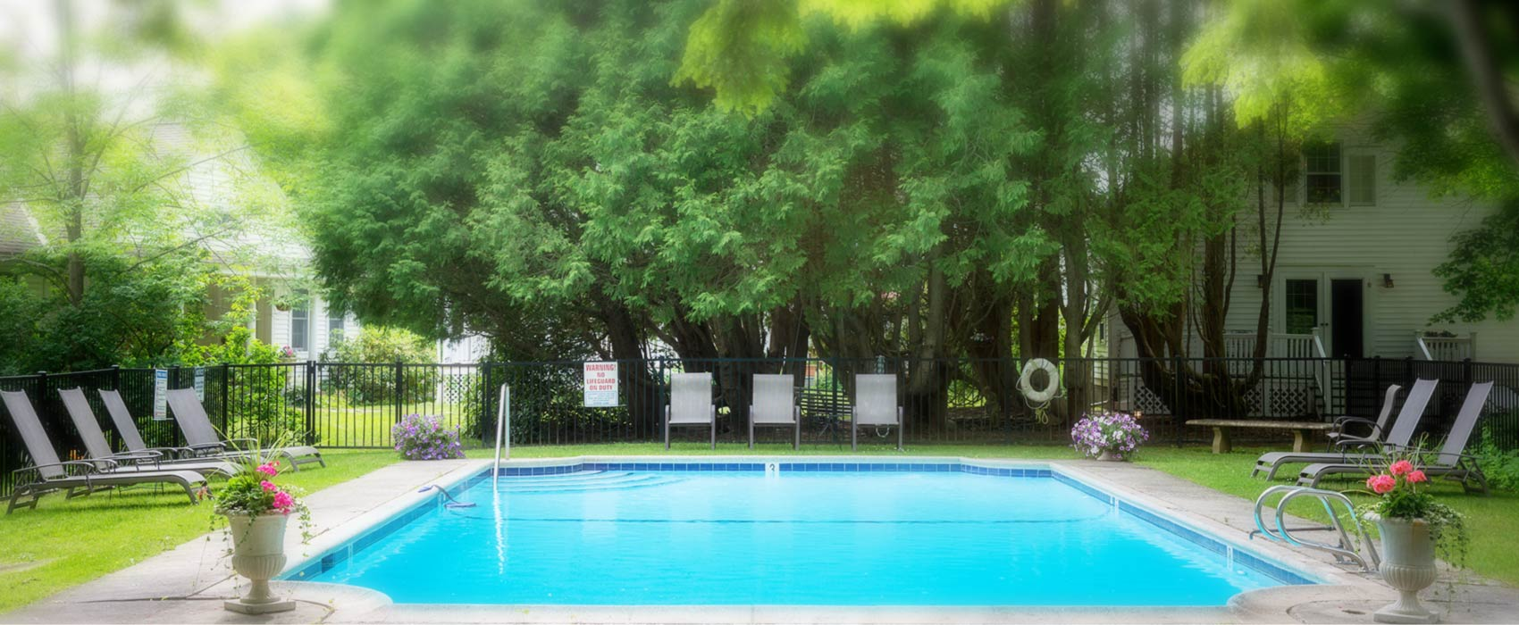 Cool pool waters at the Inn at Stockbridge