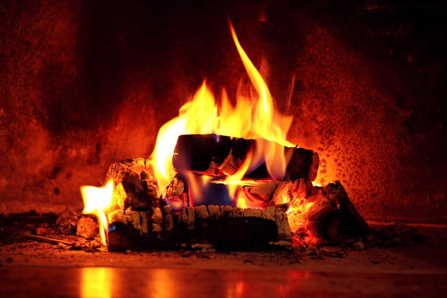 Enjoy the warmth of the fire