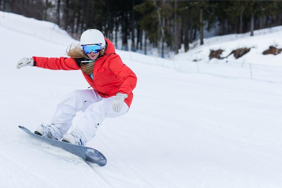 Snowboarding in the Berkshires