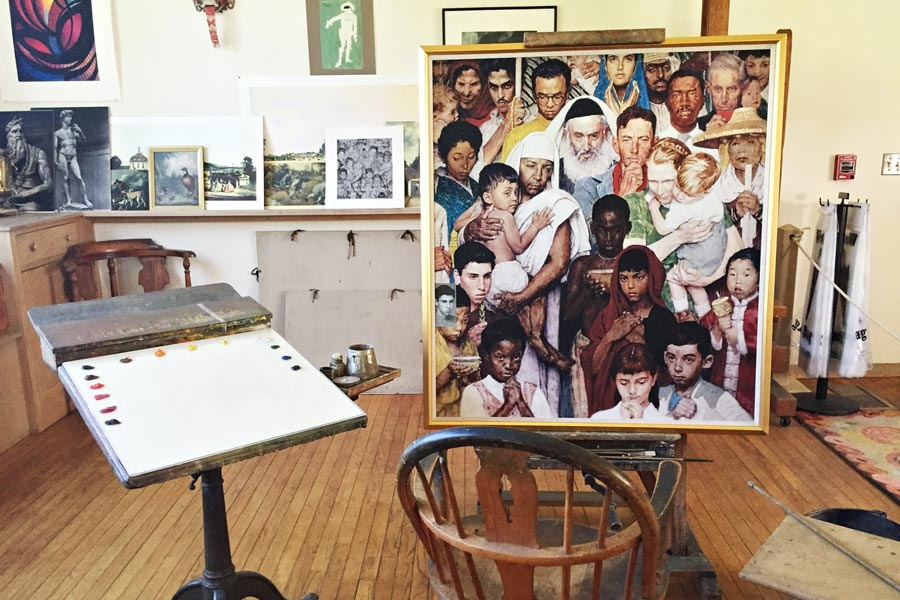 Norman Rockwell Studio Exhibit