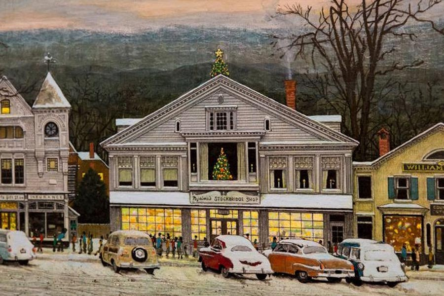 Norman Rockwell Home For Christmas detail