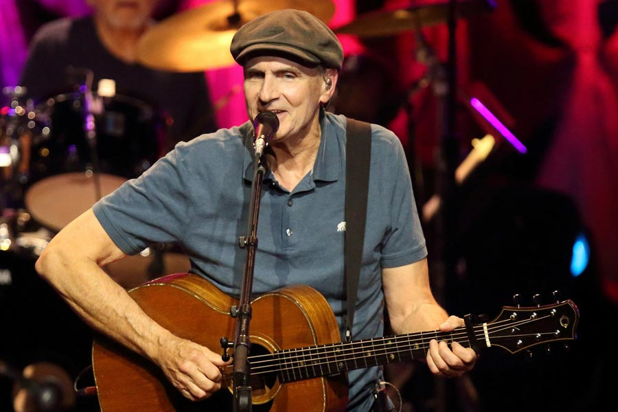 James Taylor on the Tanglewood stage
