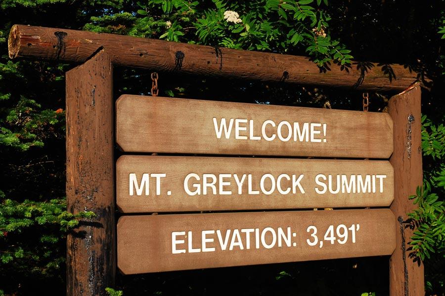 Mount Greylock summit sign