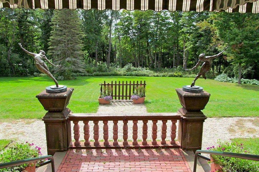 Ventfort Hall back porch