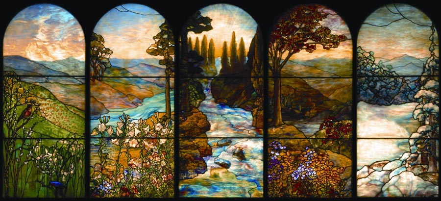 Stained glass window at Ventfort Hall