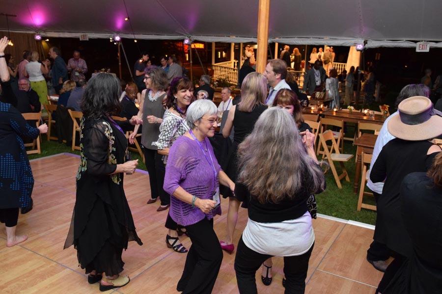 Dancing under the tent at Berkshire International Film Festival